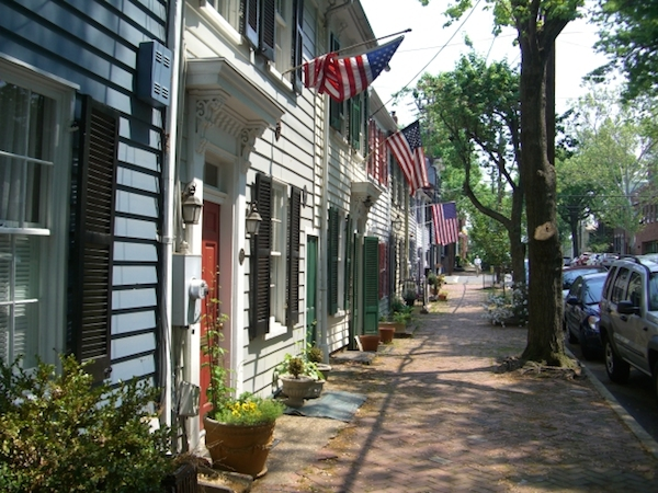 Old Town Alexandria homes near Liberty Row